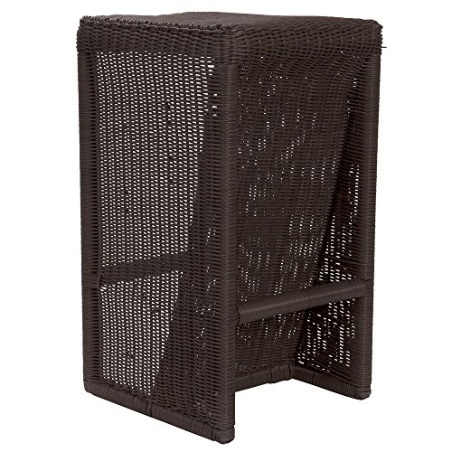 Household Essentials Resin Wicker Counter Stool, Brown