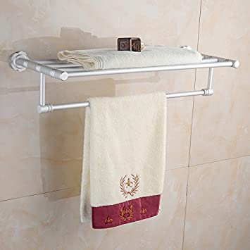 Toalla de baño o cocina Bar titular de Rack de almacenamiento de montaje en pared,organizar todo el estante con toallas y toallas, telas espacio Base ...
