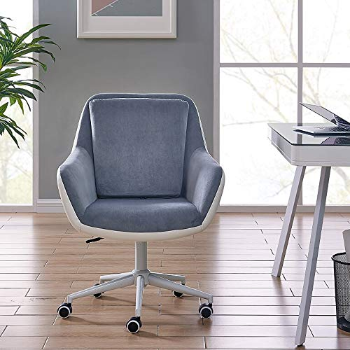 IDS Home Office Chair Executive Mid Back Computer Table Desk Chair Swivel Height Adjustable Ergonomic with Armrest - Two-Tone