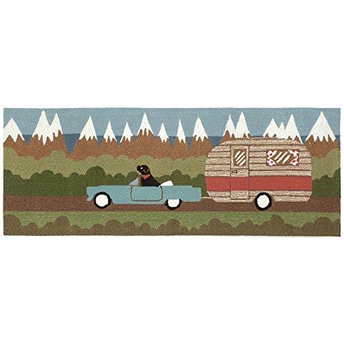 06 Runner Rug - Liora Manne FTPR5146906 1469/06 Camping Dog Green Rugs, 24
