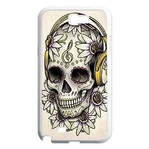 D-PAFD Diy Phone Case Sugar Skull Pattern Hard Case For Samsung Galaxy Note 2 N7100