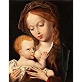 Canvas Prints Of Oil Painting ' Joos Van Cleve,Madonna And Child,about 1530-1535 ' , 8 x 10 inch / 20 x 26 cm , High Quality Polyster Canvas Is For Gifts And Game Room, Gym And Living Room Decoration