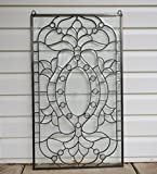 Stunning Tiffany Style Stained Glass Clear Beveled Window Panel, 20.5'' X 34.5''