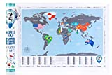 New! World Map with Scratch off, Flags Edition, Tube Packaging offers