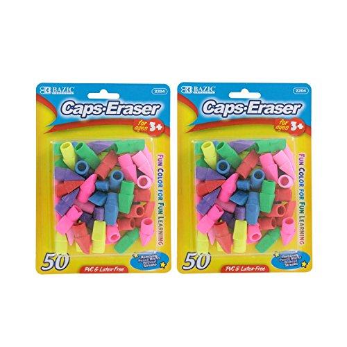 Bazic Pencil Erasers Assorted Colors