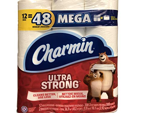 Charmin Ultra Strong Mega Roll Toilet Paper (12 Mega Rolls) ()