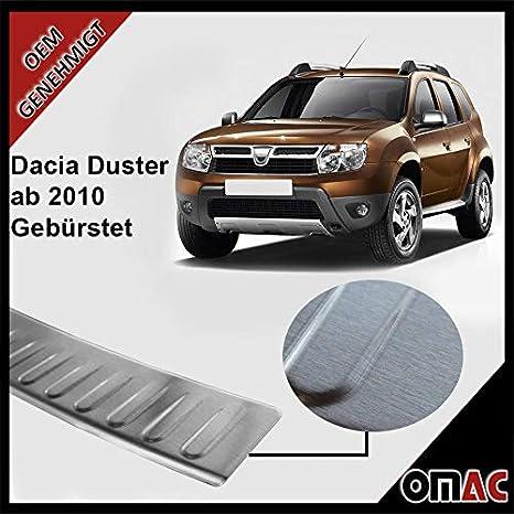 Protecció para borde de carga, de acero inoxidable cepillado, para Dacia Duster.: Amazon.es: Coche y moto