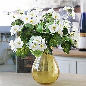 Lopkey Garden Decor Artificial Begonia Flowers Bush 111