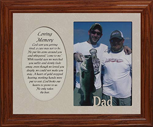 - PersonalizedbyJoyceBoyce.com ~ Loving Memory & DAD Photo & Poetry Frame ~ Holds a Portrait 5x7 Picture ~ Memorial/Tribute (FRUITWOOD #830)