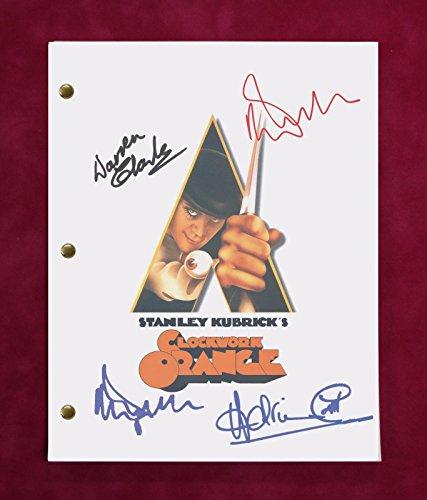 - A Clockwork Orange Movie Script W/Repro Signatures McDowell, Magee, Bates C3