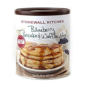 Stonewall Kitchen Gluten Free Blueberry Pancake and Waffle Mix, 16 Ounce