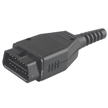 Universal Car Diagnostic Tool Obd Male Plug 16pin Obd2 Connector Obd 2 16 Pin Obd Ii Adaptor Obdii J1962 Connector Cables, Adapters & Sockets