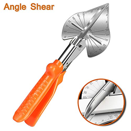 DoubleSun Adjustable Multi Angle Miter Shear Cutter,45-135 Degree Adjustable Angle Scissors Trim Shears Hand Tools for Cutting Soft Wood, Plastic, PVC and ()