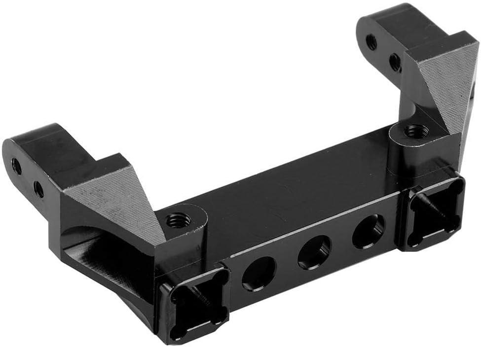 Soporte de Parachoques Delantero RC, Soporte de Parachoques Delantero de Aleacion de Aluminio para Traxxas TRX-4 RC Crawler Car(Negro)