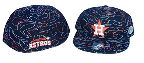 American Needle Houston Astros Strings Fitted Hat Cap Size 7 5/8 - Team Colors