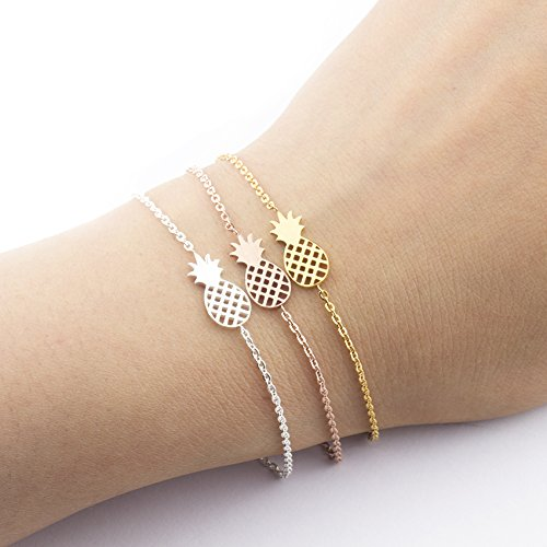 e2be0e69cab Antumn Water - Minimalism Pineapple Bracelet For Women Dainty Gifts Jewelry  Friendship Stainless Steel Rose Gold