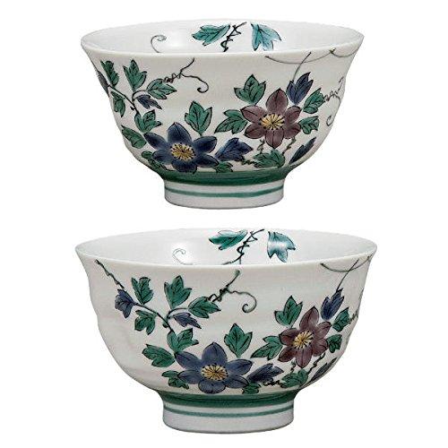 九谷焼 銀泉窯 組飯碗(夫婦茶碗) 鉄仙 K5-520 [ご飯茶碗ペアセット] B072WJT686