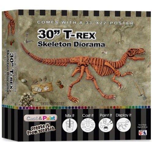 Dinosaur Casting (Skullduggery Cast & Paint(R) Kit - 30 Inch T-Rex)