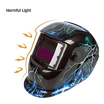 Holulo Flip-up Welding Safety Goggles with Clear Inner Lenses Automatic photoelectric welding Glasses with Adjustable Headband