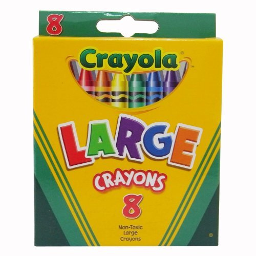 (Crayola Large Crayons Tuck Box - 8 Count - 2 Packs)