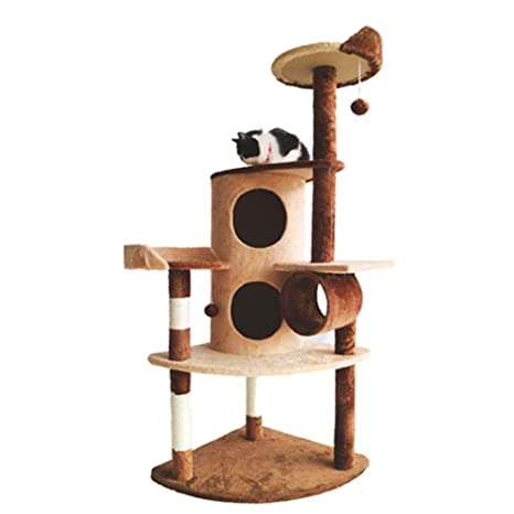 SZGS Cat Tree Tower Condo Furniture - Gato trepador de Gatos Arena ...