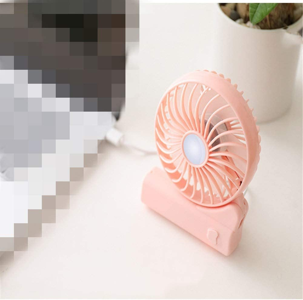 ZQ Mini Folding Small Fan USB Charging Portable Creative Portable Handheld Desktop Small Appliance Fan,B