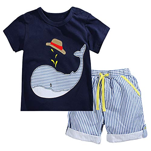 Fiream Little Boys' Cotton Clothing Short Baby Sets(2001TZ,3-4 Years) (Treasure Pants Beach)