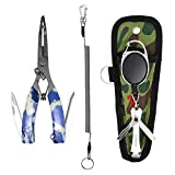 SAMSFX Quick Knot Tool and 6.4' Fishing Pliers with Camo Sheath Lanyard 3 Color Available