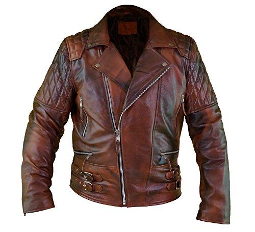 Distressed Lambskin Leather - 8