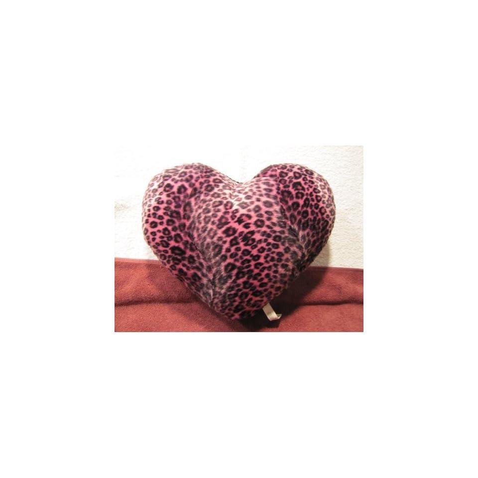 Purple Leopard Print Heart Dog Toy