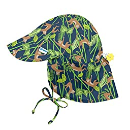 i play. Toddler Boys\' Flap Sun Protection Hat, Navy Monkey, 2T-4T