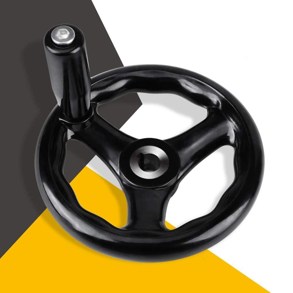 volante redondo de 12 Volante 125 mm negro de 3 radios para fresadora de torno