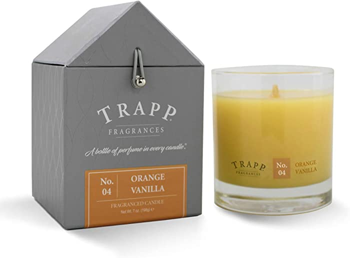 Trapp Signature Home Collection No. 4 Orange Vanilla Poured Scented Candle, 7-Ounce