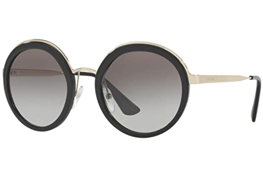 4bd44db5bf86 Image Unavailable. Image not available for. Color: Prada PR50TS Sunglasses  Black w/Grey Gradient 54mm Lens ...