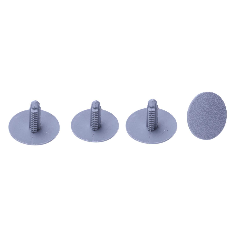 Nrpfell 20 Piezas Estera Gris de Plastico contra Salpicadura Vehiculo Modelo Clips 7mm x 16mm x 24mm