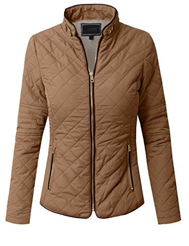J.LOVNY Womens Lightweight Wool Lined Quilted Zip Jacket/Vest S-3XL ()