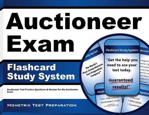 Auctioneer Exam Flashcard Study System: Auctioneer Test Practice Questions & Review for the Auctioneer Exam