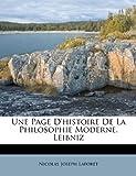 Une Page d'Histoire de la Philosophie Moderne Leibniz, Nicolas Joseph Laforet, 1248372131