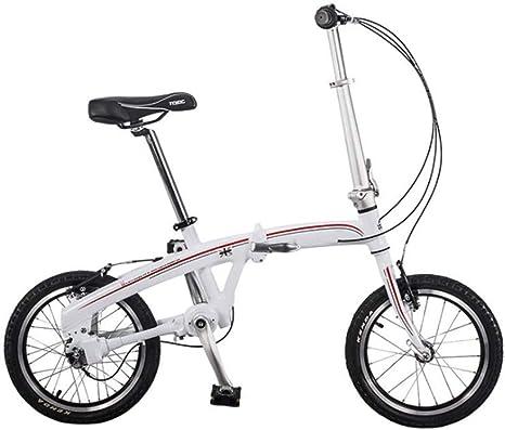Mini Bicicleta Plegable, conducción sin Eje de Cadena, Plegable rápido de 10s, Ruedas de 16 Pulgadas, Bicicleta Plegable de 3 velocidades para Adultos Camping o RV: Amazon.es: Deportes y aire libre