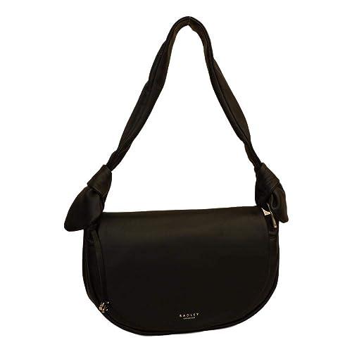 d44aee59bdec RADLEY  Spring Gardens  Medium Black Leather Shoulder Bag  Amazon.co ...