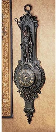 Design Toscano La Liberte Grande Palace Sculptural Wall Clock