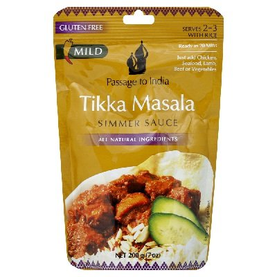 Passage To India Tikka Masala Simmer Sauce, 7 Ounce - 6 per case. by Passage To India
