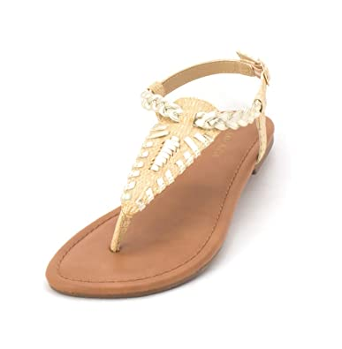 0c4661388 Rampage Womens Peace Leather Open Toe Casual Slingback Sandals