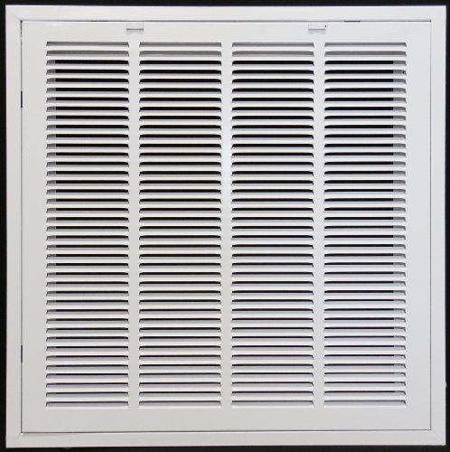 24 x 24 RETURN FILTER GRILLE for Drop Ceiling - Uses 20 x 20 Filter - Easy Access Door & Latch To Filter