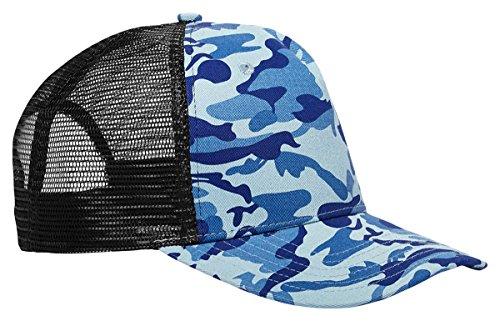 BX FLAT BILL SURF/TRUCK CAP (WATER CAMO/BLACK) (OS)