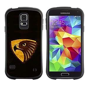 Paccase / Suave TPU GEL Caso Carcasa de Protección Funda para - Black Brown Gold Eagle - Samsung Galaxy S5 SM-G900
