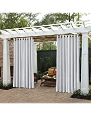 """Cololeaf Outdoor Curtains for Patio Waterproof Set of 2 Panels,Grommet Top Thermal Insulated Blackout Outdoor Curtain Drape for Porch, Gazebo, Pergola, Cabana - Beige 52"""" Wx63 L Inch"""