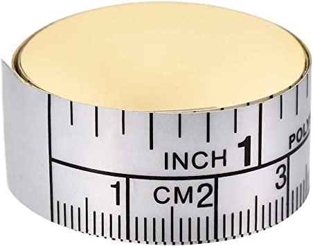 uxcell Adhesive Backed Tape Measure 40 Inch Measuring Tool for Tailor Sewing