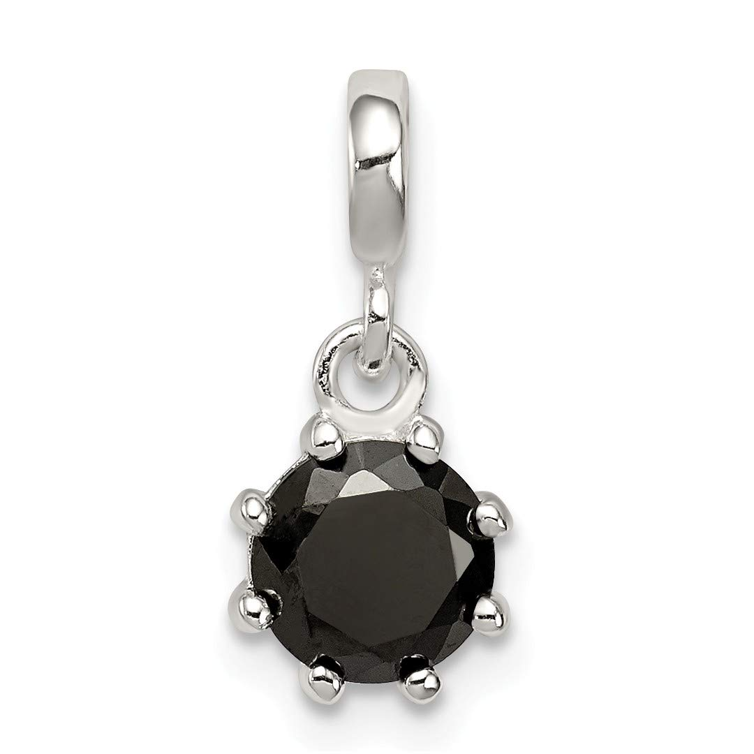 ICE CARATS 925 Sterling Silver Black Cubic Zirconia Cz Enhancer Necklace Pendant Charm Fine Jewelry Ideal Gifts For Women Gift Set From Heart