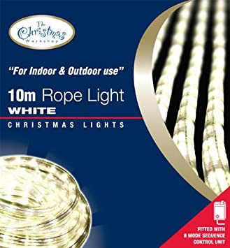 Benross the christmas lights 10m chaser rope light white amazon benross the christmas lights 10m chaser rope light white aloadofball Choice Image